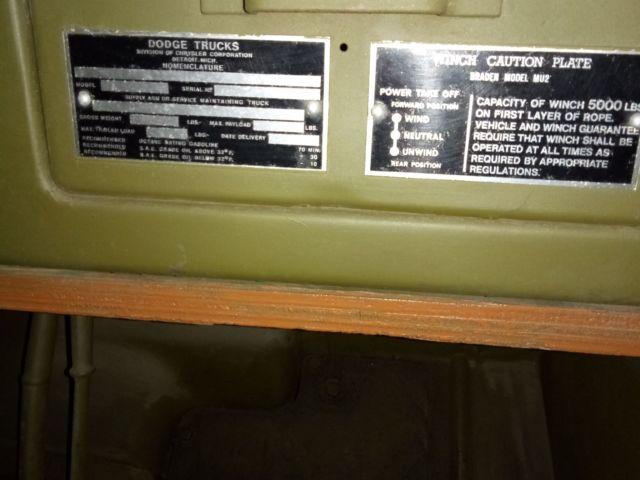 Dodge command car WC57 tableau de bord